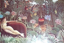 THE DREAM HENRI ROUSSEAU FRANCE JUNGLE PAINTING PRINT - $55.49