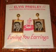 ELVIS PRESLEY EARRINGS DATED 1956 SEALED  FREE USA SHIPPING! - $494.99