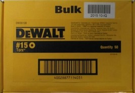 "Dewalt DW2615B T15 x 1"" Torx Screw Bit Tips 50 Pack - $12.87"