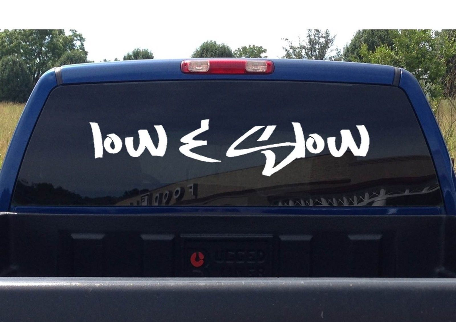 "Primary image for LARGE LOW AND SLOW (10"" x 40"") STICKER JDM LOW & SLOW JDM FURIOUS FAST LOW RIDER"