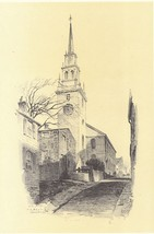Original 1922 Print of Trinity Church , Newport... - $13.99