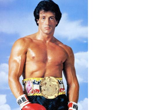 Primary image for Rocky Belt Boxing Stallone Action Vintage 8X10 Color Movie Memorabilia Photo