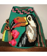 Authentic 100% Wayuu Mochila Colombian Bag Large Size special  - £114.71 GBP