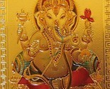 Ganesh Gold Foil Magnet Hindu Elephant God Deity Collectible Ganesha Spiritual