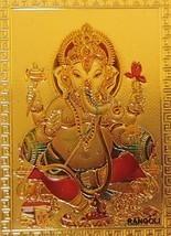 Ganesh Gold Foil Magnet Hindu Elephant God Deity Collectible Ganesha Spi... - $6.99