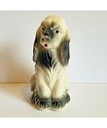 Vintage 1950s Chalkware Spaniel Dog Carnival Figurine - $25.20