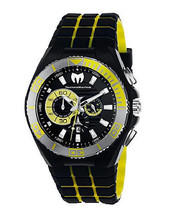 Brand New TechnoMarine Men's Cruise Locker Chronograph BLK/Yellow Watch ... - $391.05