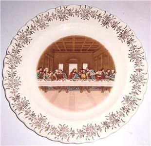 """THE LAST SUPPER"" FIRST EDITION 22K GOLD GILDING SANDERS MFG CO TENN U.S.A."