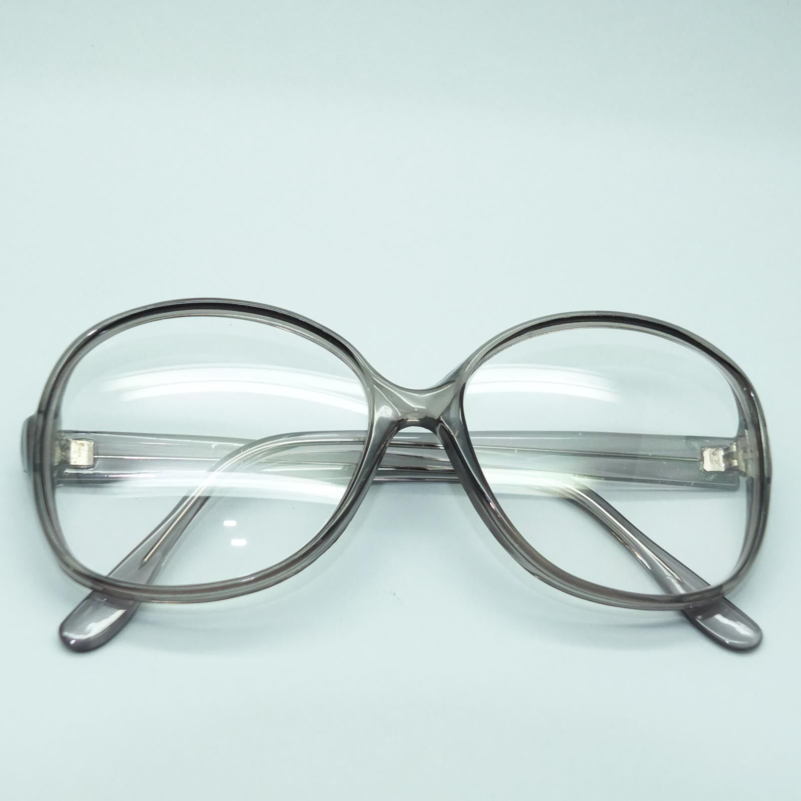 Gray Frame Reading Glasses : Mega Huge Oversize Statement Bold Polished Dark Gray Frame ...