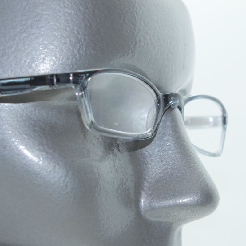 Narrow Frame Reading Glasses : Lightweight Narrow Ombre Frame Blue Clear Reading Glasses ...