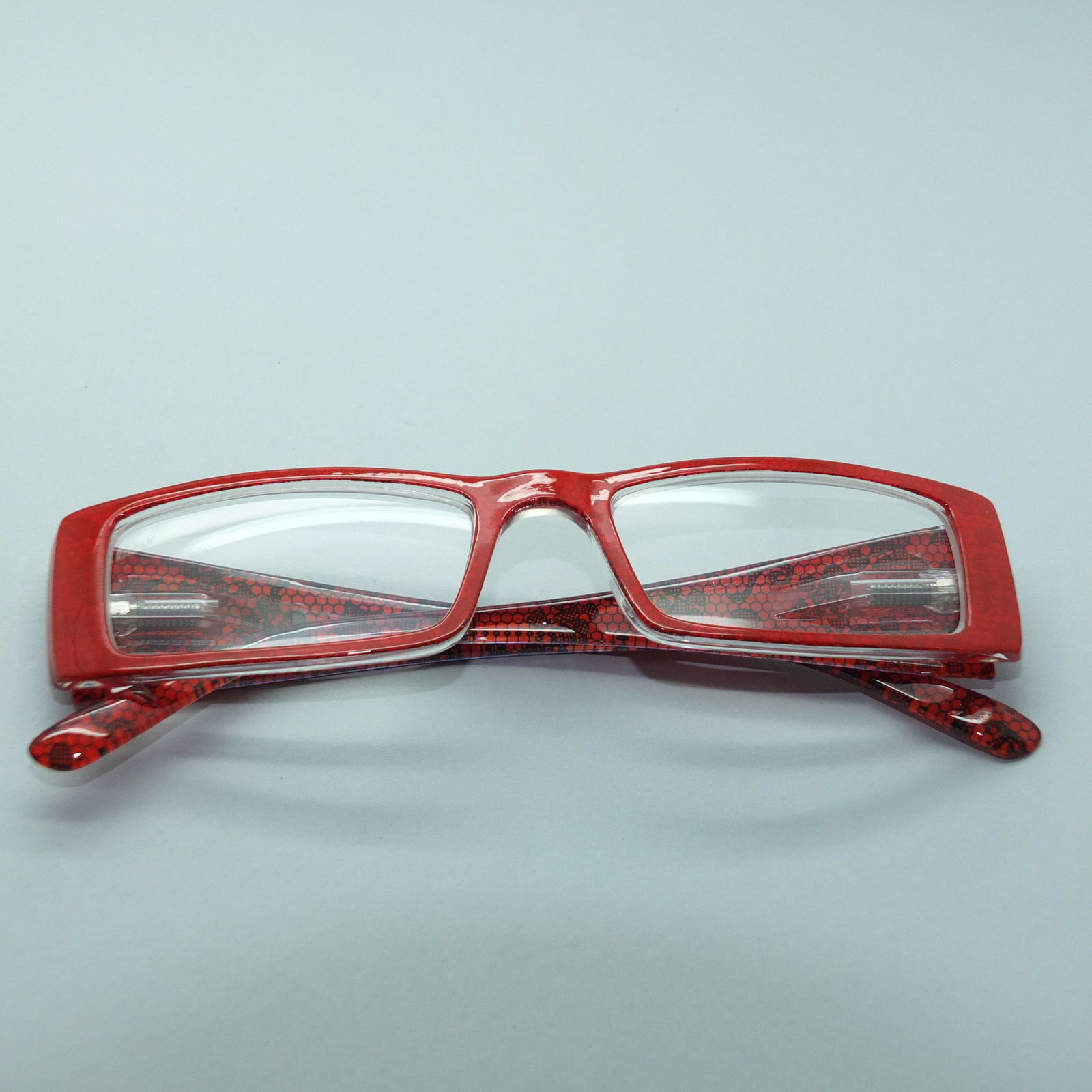 Big Red Frame Glasses : Great Big Power Red Frame Rectangle Reading Glasses +1.50 ...