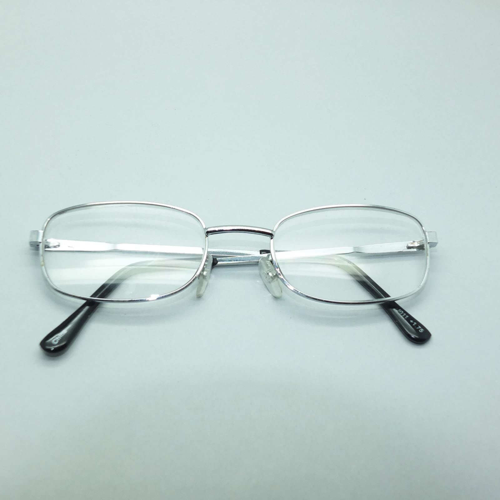 Reading Glasses No Frame : Reading Glasses Simple Metal No Nonsense Classic Silver ...