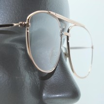 Aviator Classic Gold Frame Double Bridge Mid Size Reading Glasses +1.25 - $21.00