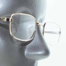 Reading Glasses Angled Rectangle Old School Tech Gold Metal Frame +1.25 Lens - $18.00