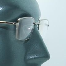 Silver Metal 1/2 Frame 1/2 Clear Line Office Reading Glasses Spring Hinge +3.00 - $19.00