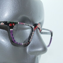 Black Frame Snowmen Dots ~ Arty Hand Painted Narrow Lens Reading Glasses +1.50 - $18.00
