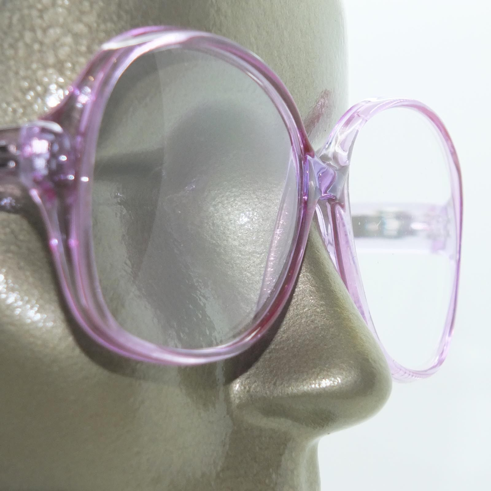 Primary image for Reading Glasses Violet Large Oversize Grand Frame Acrylic Classic +3.00 Strength