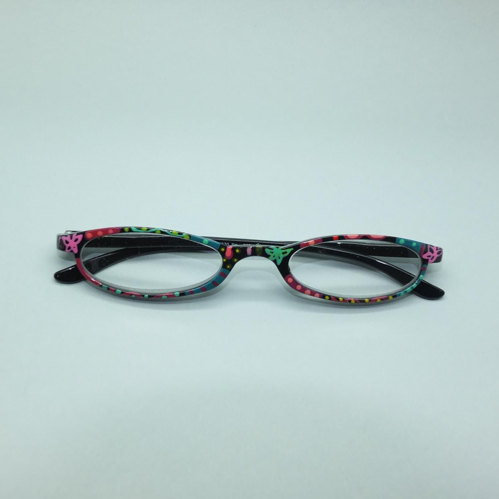 multi patterned jazzy whimsical frame reading glasses 3