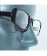 Narrow Black Frame Tres Chic Blank Clear Lens Runway Fashion Eyewear Gla... - $34.00