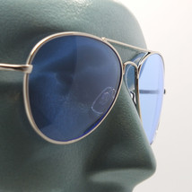 Uber Rock Cool Colored Blue Lens Aviator Sunglasses Tint Shades - $24.00