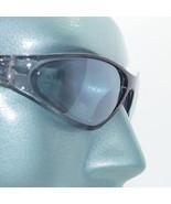 Petite Wraparound Sunglasses Close Fit Black Frame Blue Lens Sun Shades - $17.00