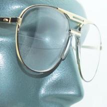 Aviator Traditional True Half Bifocal Reading Glasses +1.50 Black Gold F... - $26.00