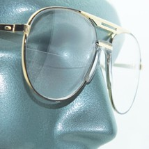 Aviator Traditional True Half Bifocal Reading Glasses +2.25 Black Gold F... - $24.00
