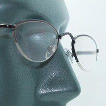 Delicate Oval Metal Top Shiny Gray Frame Reading Glasses Bottomless Lens... - $17.00