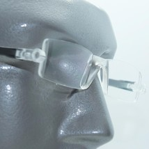 Reading Glasses No-See Frameless Lightweight Black Color Accent Sides +1.50 - $18.00