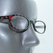 Apples and Polka Dots ~ Arty Hand Painted Narrow Lens Reading Glasses +1.50 - $18.00