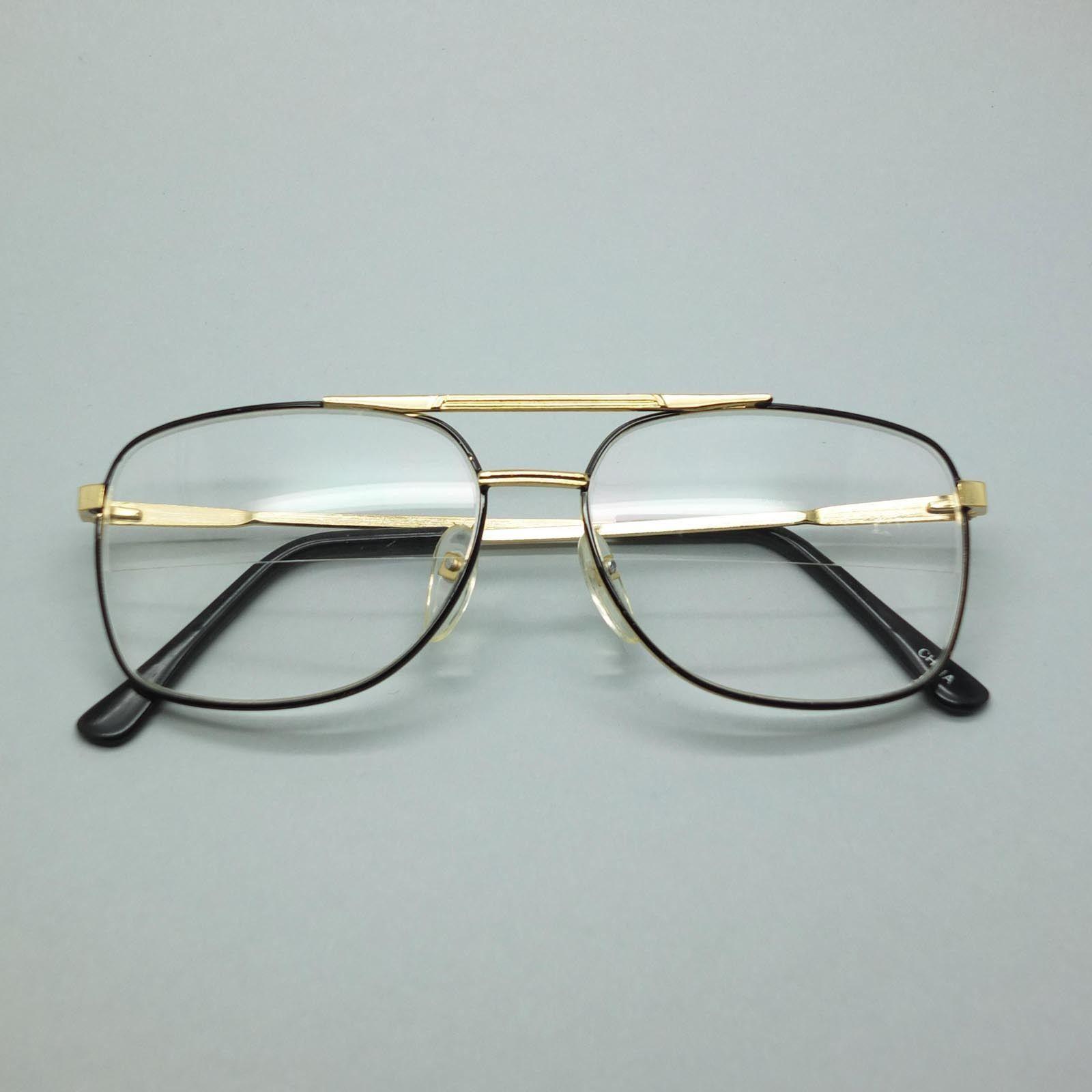 679b1453880 Reading Glasses True Straight Half Bifocal Lens Classic Metal Black Frame  +1.75