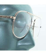 Reading Glasses Large Man Modern Aviator Straight Bifocal Gold Metal Fra... - $24.00