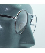 Wire Silver Frame Round Blank Lens Fashion Eyewear Glasses Just for Fun - $34.00