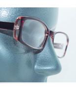 Narrow Coffee Crystal Frame Tres Chic Blank Clear Lens Runway Eyewear Gl... - $34.00