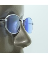 Petite Silver Frame Blue Tinted Reading Glasses Extra Strong +4.00 Strength - $21.50