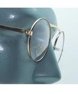 Wire Gold Frame Round Blank Lens Rock Star Fashion Eyewear Glasses Eyes ... - $36.00