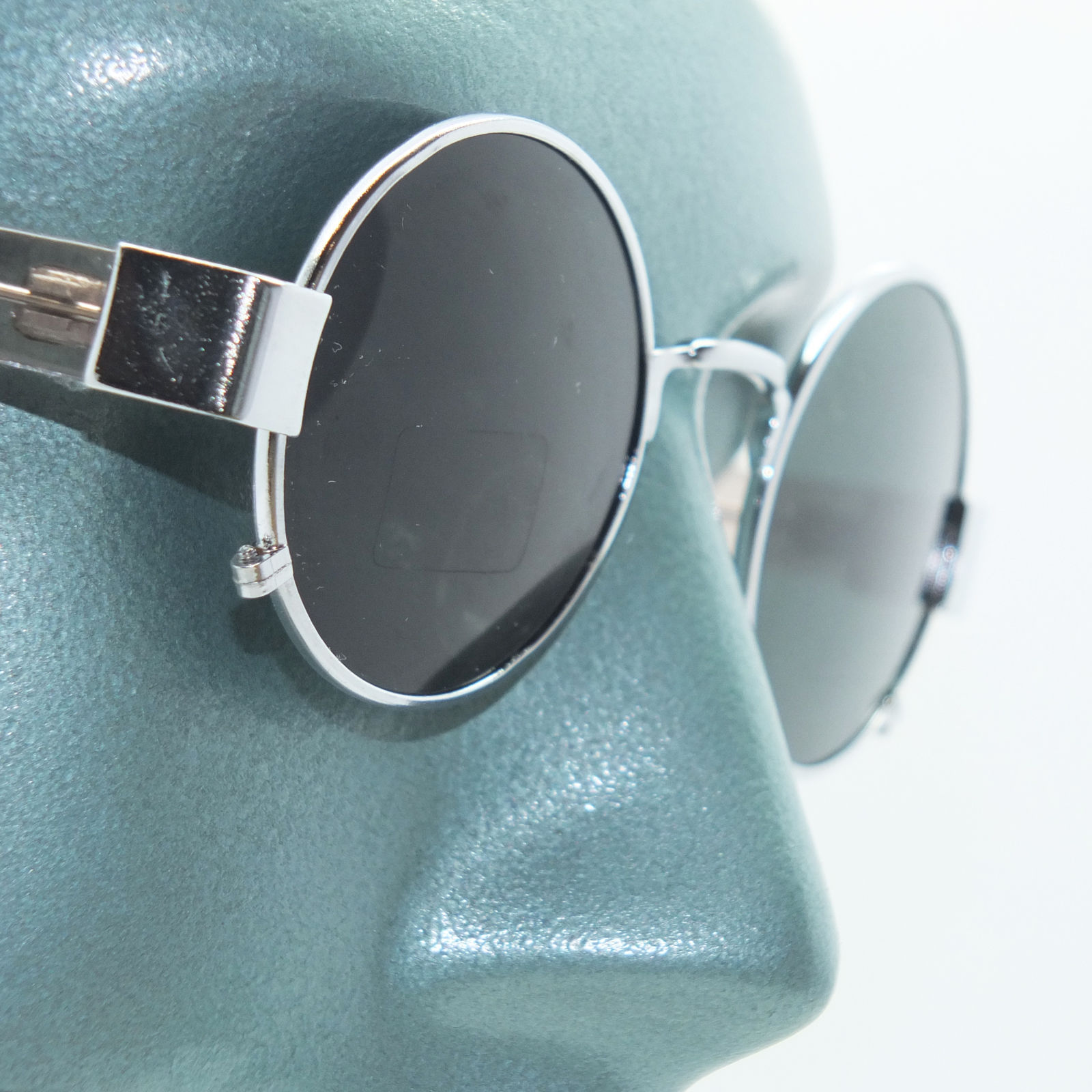 Primary image for Rockin' Ozzy Small Frame Round Rock Star Sunglasses Shades Silver Chrome Metal