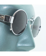 Rockin' Ozzy Small Frame Round Rock Star Sunglasses Shades Silver Chrome Metal - $24.00