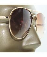 Aviator Men's Bifocal Reading Glasses +1.25 Tinted Lens Gold Metal Sungl... - $17.00