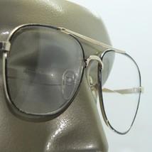 Wide Aviator Black Gold Metal Frame Straight Line Bifocal Reading Glasse... - $26.00