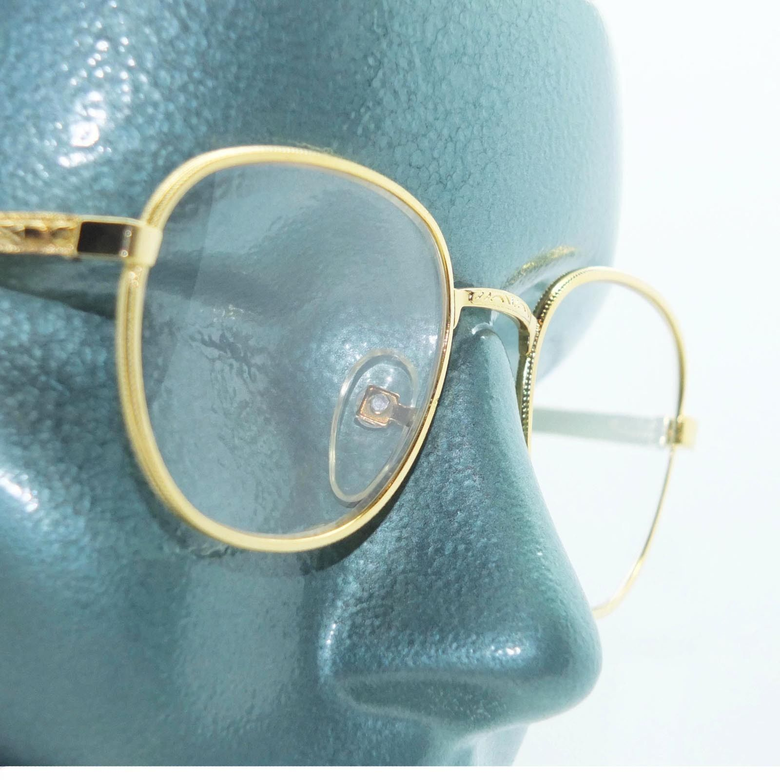 Classic Metal Rounded Frame Reading Glasses Gold Wire +2.50 Lens Strength