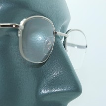 Smooth Rectangle Reading Glasses Silver Metal Top Frame Invisible Bottom... - $17.00