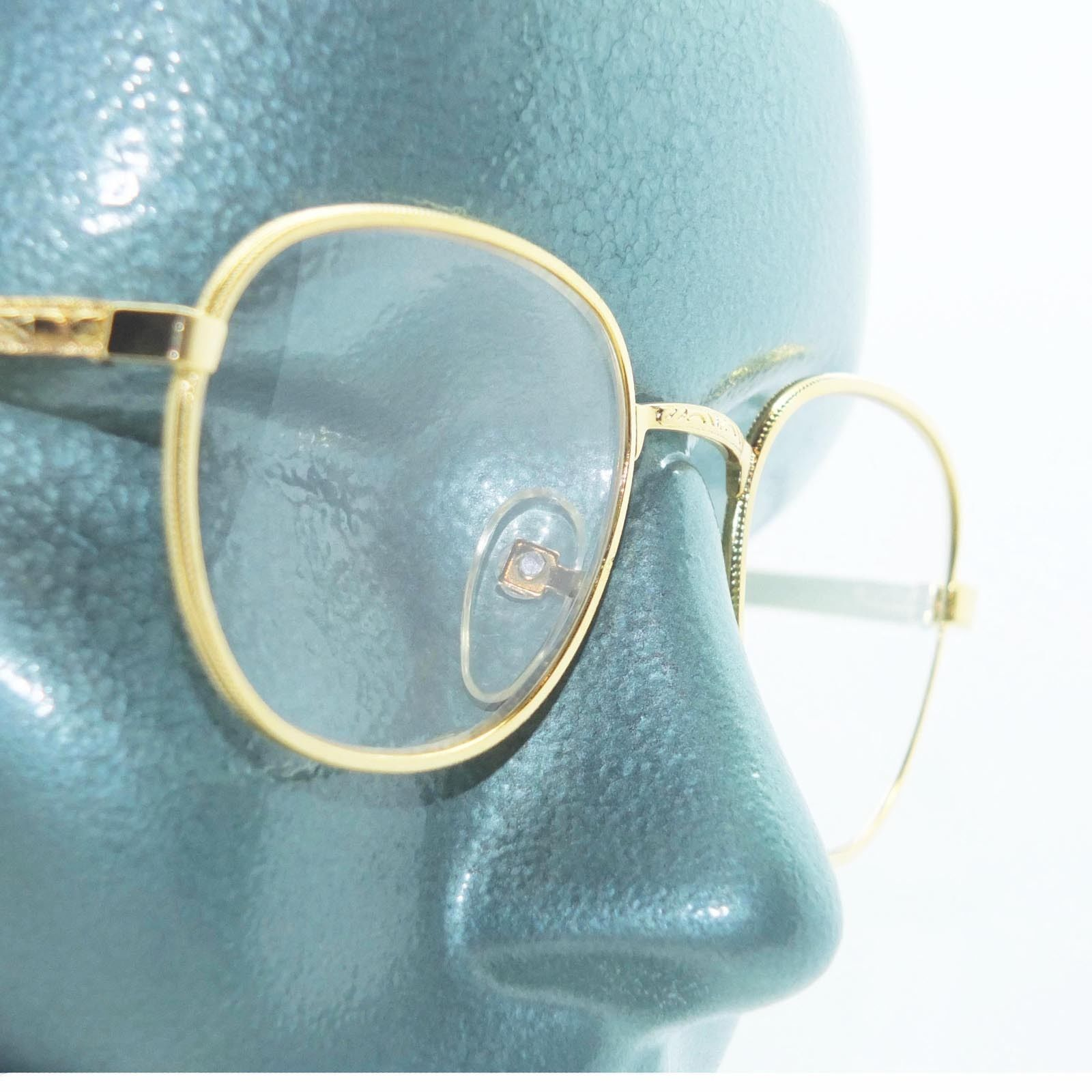 Primary image for Classic Metal Rounded Frame Reading Glasses Gold Wire +3.50 Lens Strength