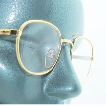 Classic Metal Rounded Frame Reading Glasses Gold Wire +3.50 Lens Strength - $18.00