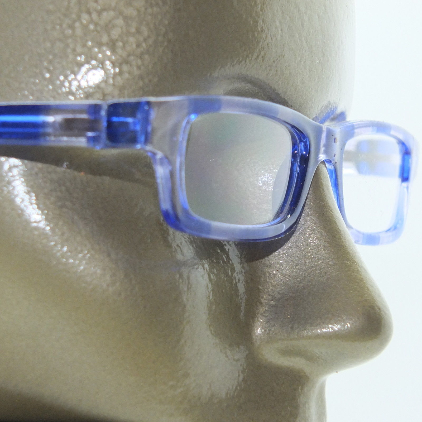 Primary image for Reading Glasses Seriously Funky Straight Blue Clear Frame +1.00 Lens