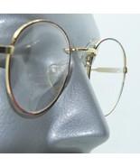 Bifocal +3.50 Reading Glasses Metal Tortoise Gold Round Lightweight Large Frame - $18.00
