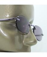 Reading Glasses Sun Reader Tinted +1.00 Lens Petite Frameless Purple Met... - $18.00