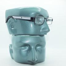 Reading Glasses Super Hi Tech Metro Metal Frame Jazz Black White Detail +4.00 image 2