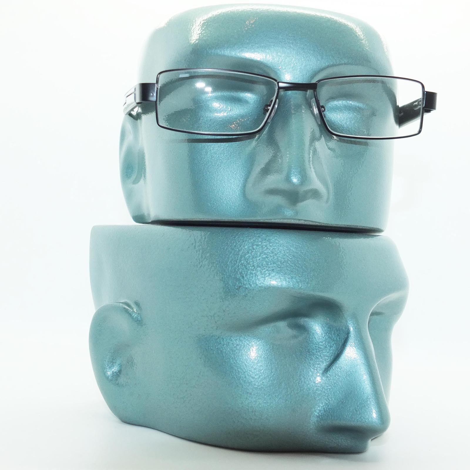 Reading Glasses Super Hi Tech Metro Metal Frame Jazz Black White Detail +4.00 image 3