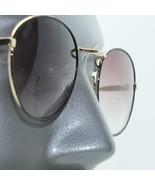Tinted Bifocal Black Gold Round Metal Frame Sunglasses Sun Reading Glasses +3.50 - $18.00